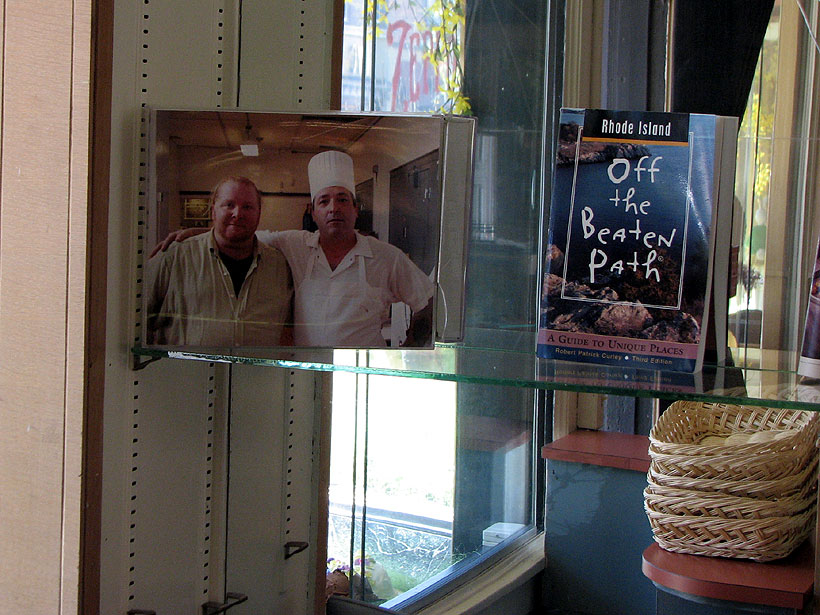 Providence RI Scialo Brothers' Bakery photo of Mario Batali