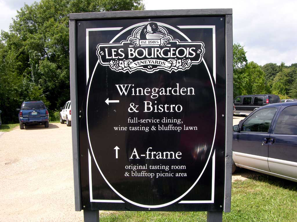 Les Bourgeois, a winery and restaurant in Rocheport, Missouri