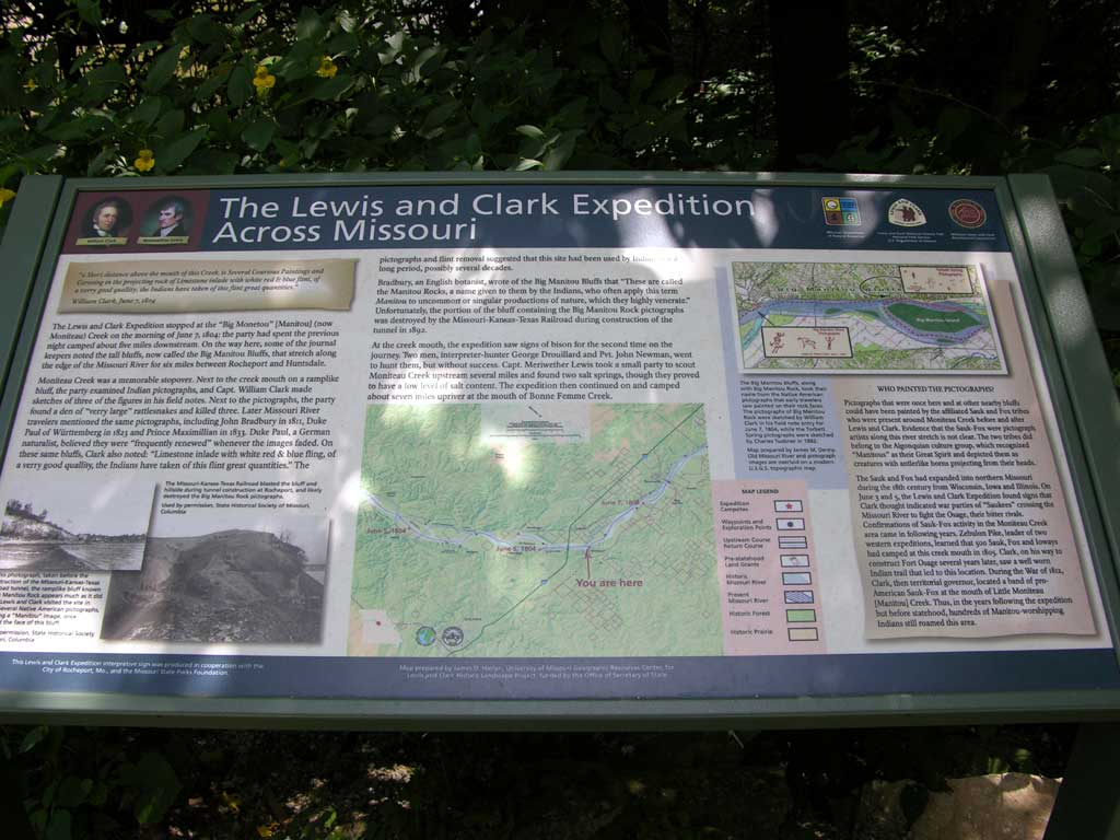 Another Lewis & Clark historical marker along the Katy Trail in Rocheport, Missouri