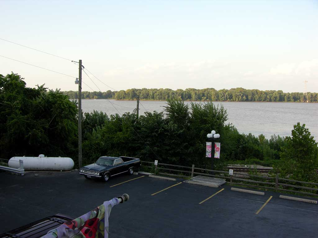 A view of the Missouri River from the Riverview Cafe