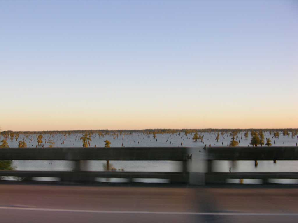 Portion of the Bayou along route I-10 west of New Orleans