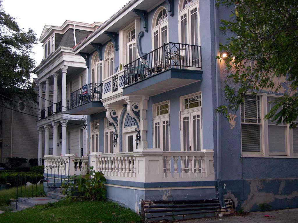 A scene along St. Charles Avenue in the Garden District