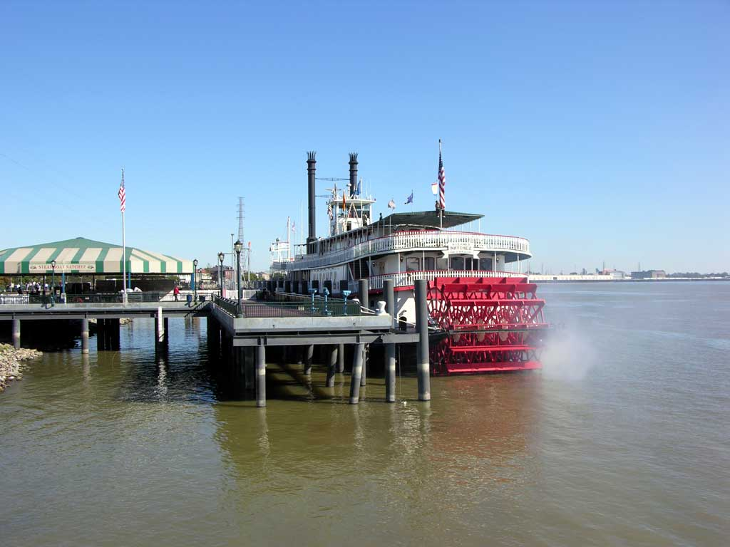 Steamboat Natchez on the Mississippi River