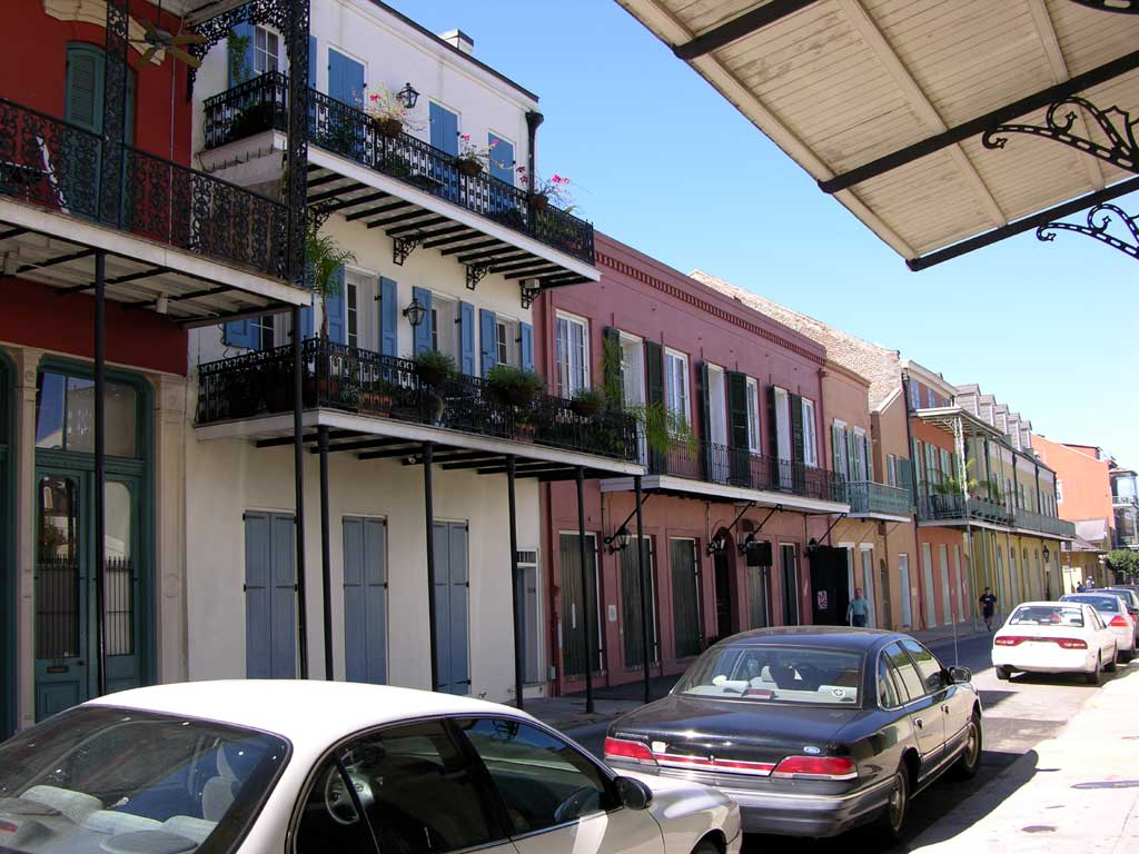 Street scene in the French Quarter
