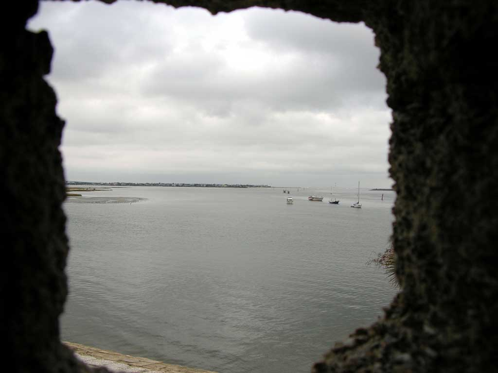 View from a lookout tower at Castillo de San Marcos