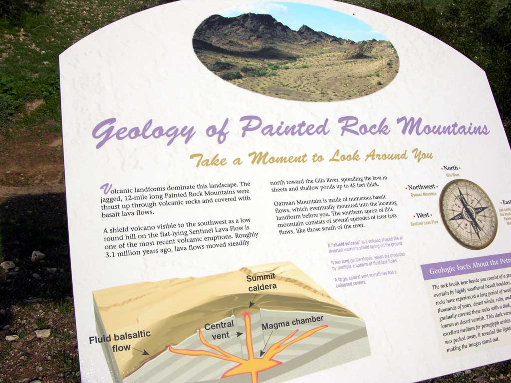 Painted Rock Petroglyph Site — Geology of Painted Rock Mountains