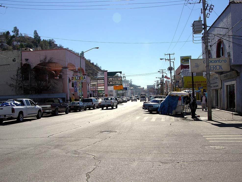 A street in Nogales, Mexico