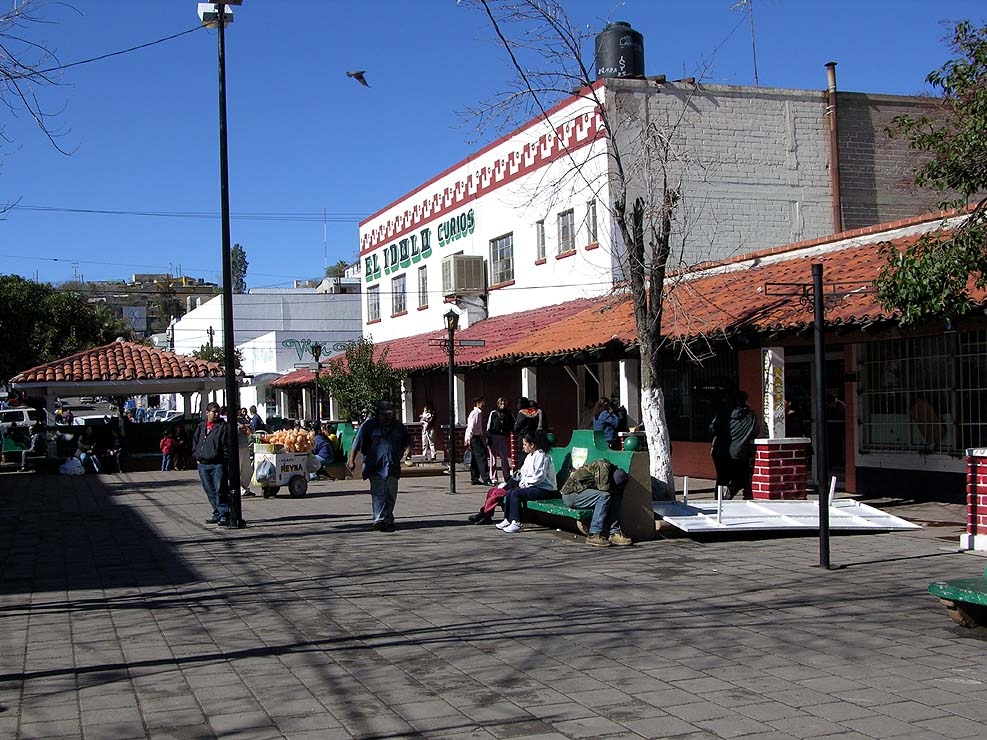 A plaza in Nogales, Mexico