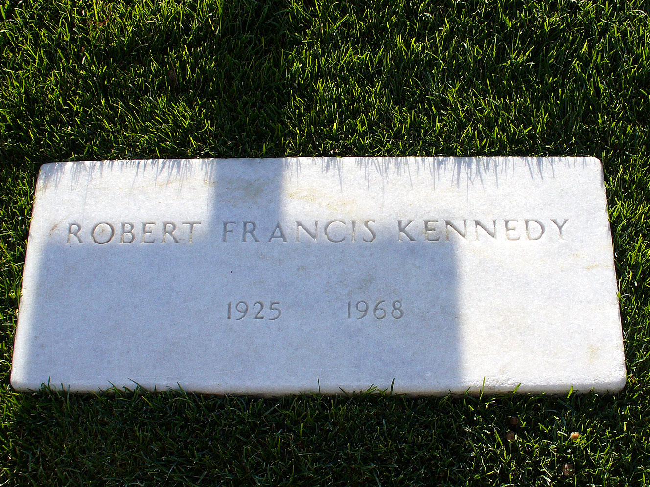 Arlington National Cemetary grave of Robert Kennedy inscription