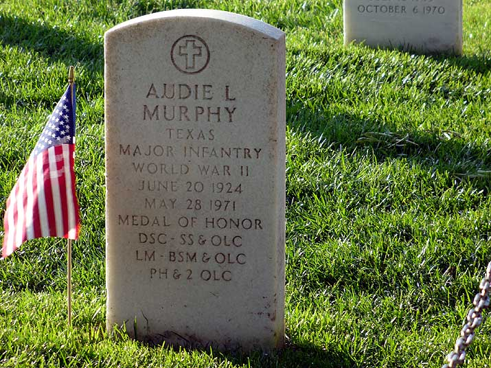 Arlington National Cemetary grave of Audie Murphy