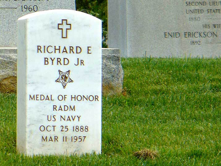 Arlington National Cemetary grave of Admiral Richard Byrd