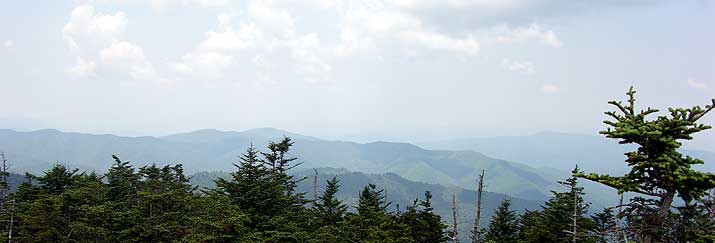 Great Smoky Mountains National Park Clingman's Dome view