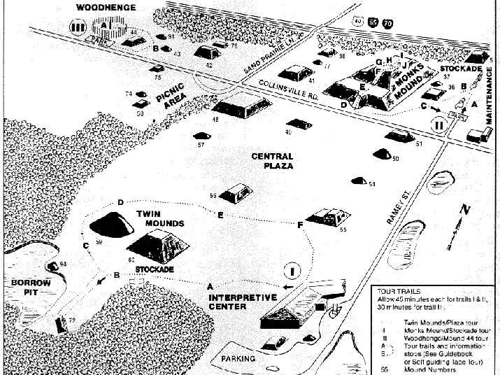 Cahokia Mounds map