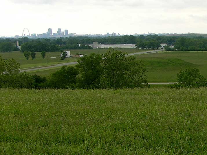 Cahokia Mounds Monks Mound view